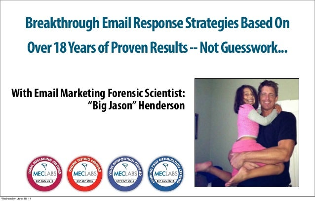 Breakthrough Email Response Strategies Based On  Over 18 Years of Proven Results -- Not Guesswork...  With Email Marketing...