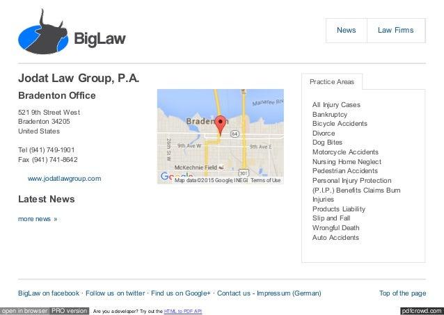 biglaw org lawfirms 6105 jodat law group p a offices 7745 u 1 rh slideshare net
