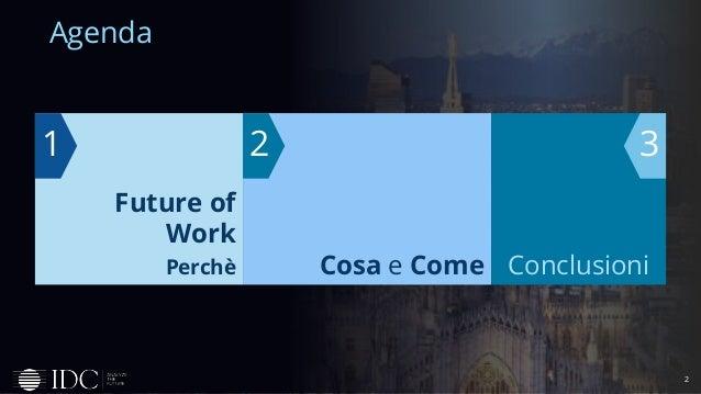 2 Agenda Future of Work Perchè 1 Cosa e Come 2 Conclusioni 3