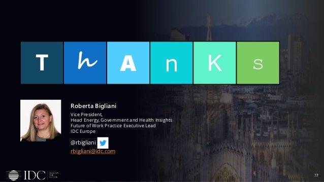23© IDC T h n KA s @rbigliani rbigliani@idc.com Roberta Bigliani Vice President, Head Energy, Government and Health Insigh...