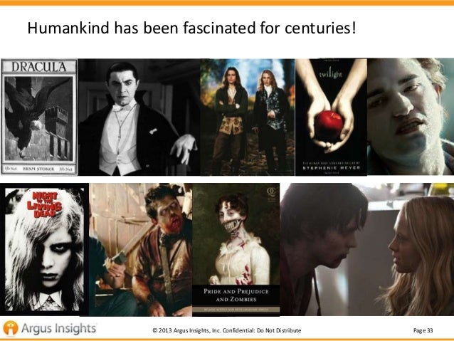 Humankind has been fascinated for centuries!  © 2013 Argus Insights, Inc. Confidential: Do Not Distribute  Page 33