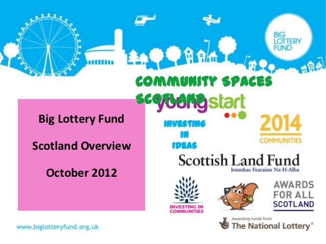 Community Spaces                    Scotland Big Lottery Fund      Investing                           inScotland Overview...