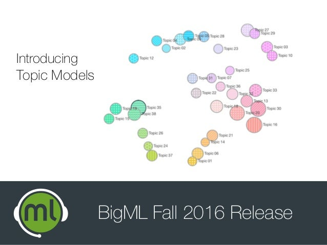 BigML Fall 2016 Release Introducing Topic Models