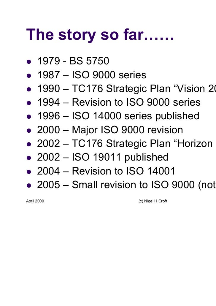 ISO 9001:2008 small changes but big opportunities