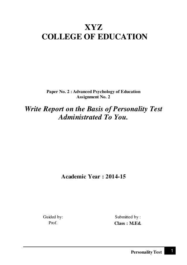 Socio psychological study of personality essay