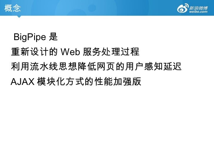 新浪微博的BigPipe后端实现技术分享——11月26日淘宝aDev技术沙龙 Slide 3