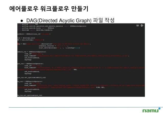 ● DAG(Directed Acyclic Graph) 파일 작성 에어플로우 워크플로우 만들기