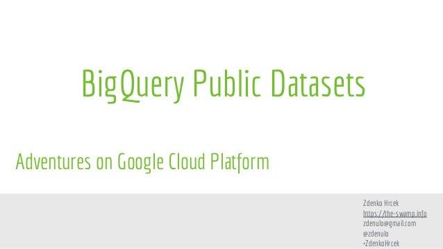 Big query public datasets