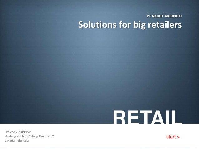 PT NOAH ARKINDO                                     Solutions for big retailersPT NOAH ARKINDO                            ...