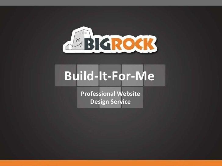 Build-It-For-Me Professional Website Design Service