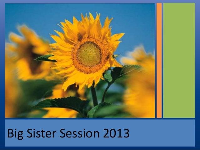 Big Sister Session 2013
