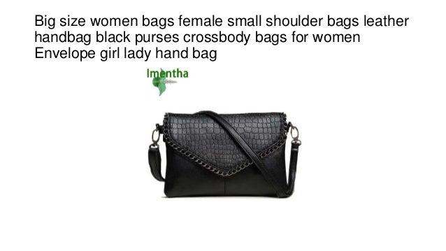 Big size women bags female small shoulder bags leather handbag black purses  crossbody bags for women ... 483535db117eb