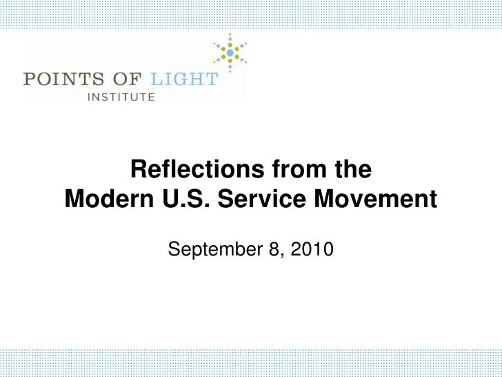 Reflections from the Modern U.S. Service Movement by Michelle Nunn