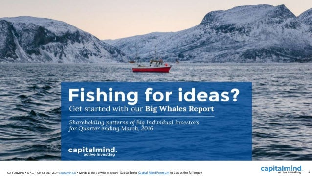 CAPITALMIND • © ALL RIGHTS RESERVED • capitalmind.in • March'16 The Big Whales Report 1Subscribe to Capital Mind Premium t...