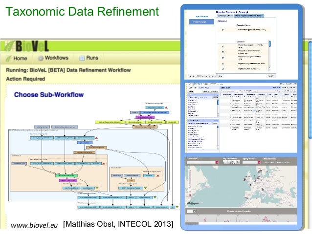 Taxonomic Data Refinement www.biovel.eu • Synonym expansion • Taxonomic name resolution • Occurrence retrieval • Spell che...