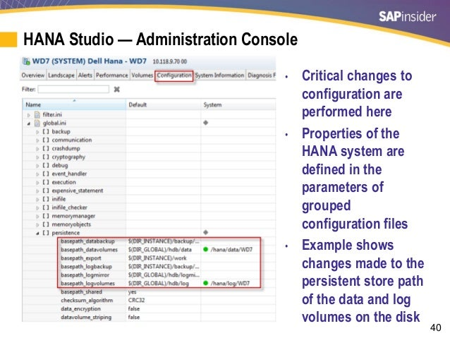 Best Practices to Administer, Operate, and Monitor an SAP HANA System