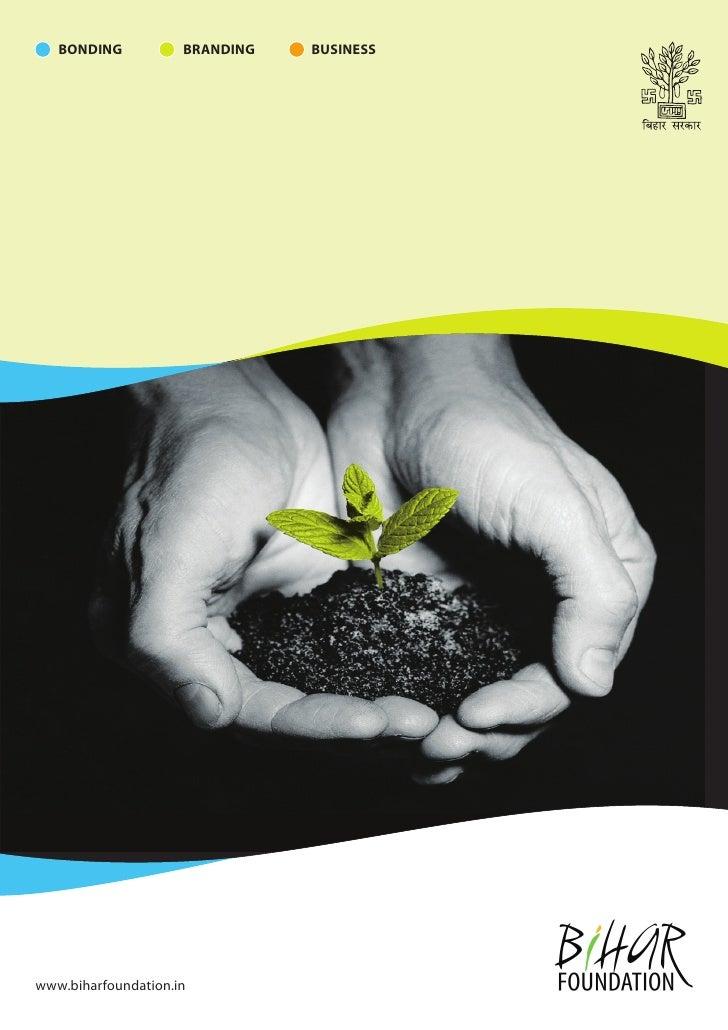 Bihar Foundation brochure by HashPro