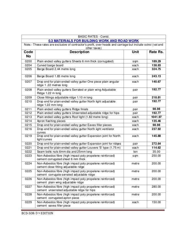 bihar schedule of rates ne 01 16 07 2012