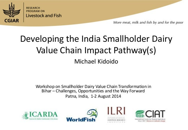 Developing the India Smallholder Dairy Value Chain Impact Pathway(s) Michael Kidoido Workshop on Smallholder Dairy Value C...