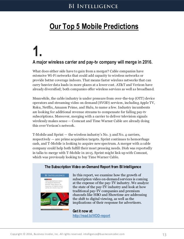 Business Insider - 2016 predictions