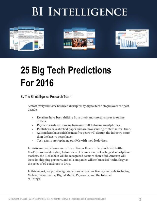 Business Insider - 2016 predictions Slide 2