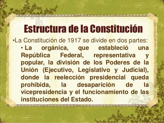 La Revolucion Mexicana La Constitución De 1917