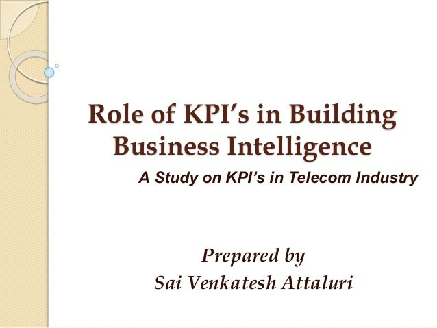 Kpi in telecommunication.