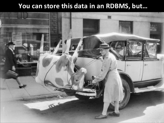 © Third Nature Inc. You can store this data in an RDBMS, but…