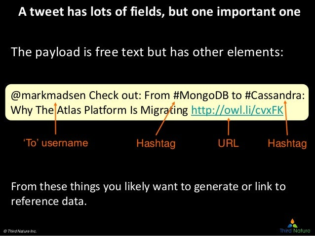 © Third Nature Inc. @markmadsen Check out: From #MongoDB to #Cassandra: Why The Atlas Platform Is Migrating http://owl.li/...