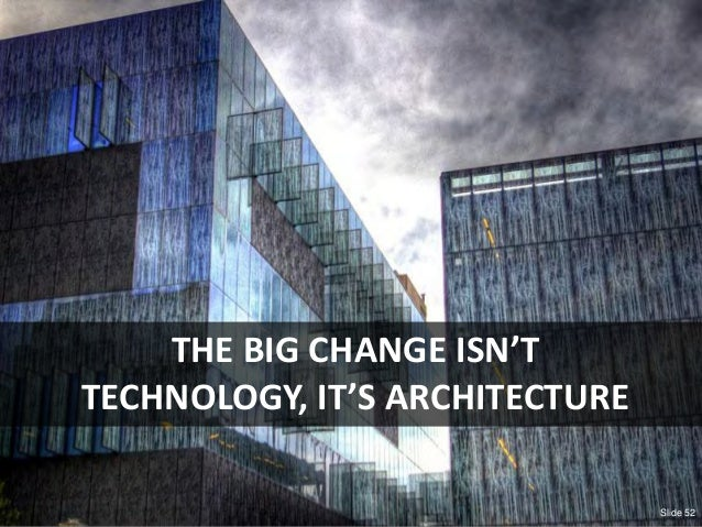 © Third Nature Inc. Slide 52 THE BIG CHANGE ISN'T TECHNOLOGY, IT'S ARCHITECTURE