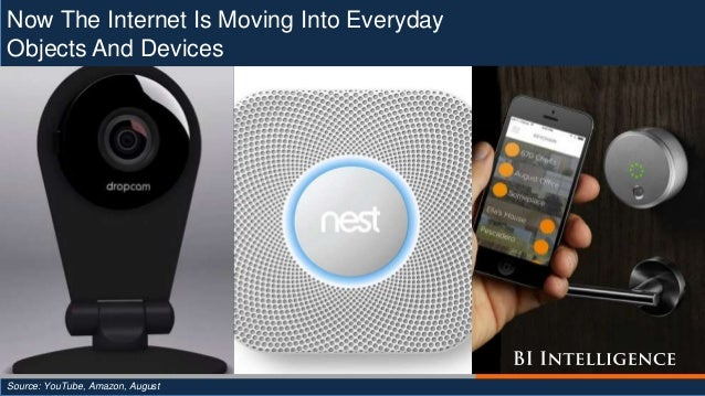 Now The Internet Is Moving Into Everyday Objects And Devices Source: YouTube, Amazon, August