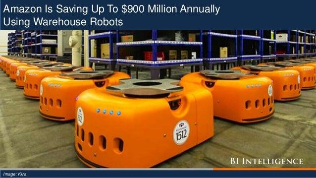 Amazon Is Saving Up To $900 Million Annually Using Warehouse Robots Image: Kiva