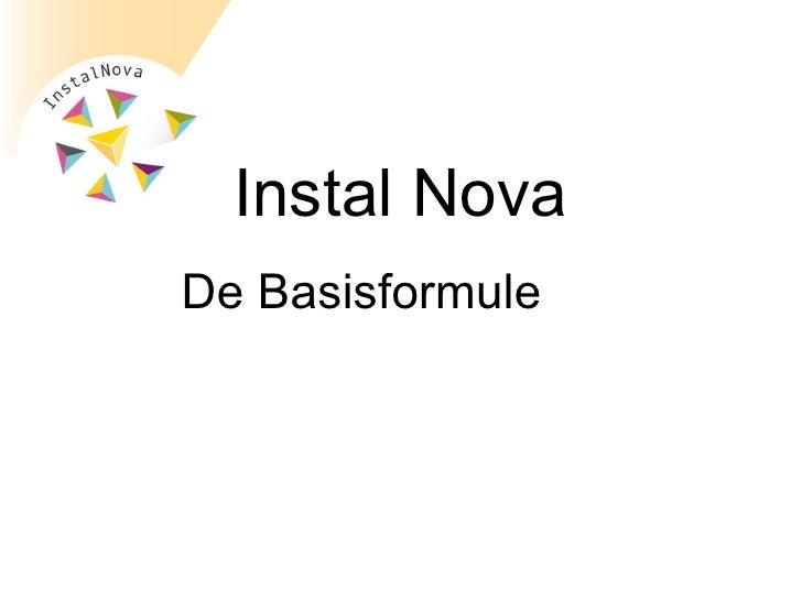 De Basisformule  Instal Nova