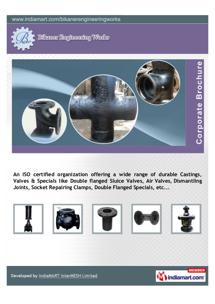An ISO certified organization offering a wide range of durable Castings,Valves & Specials like Double flanged Sluice Valve...