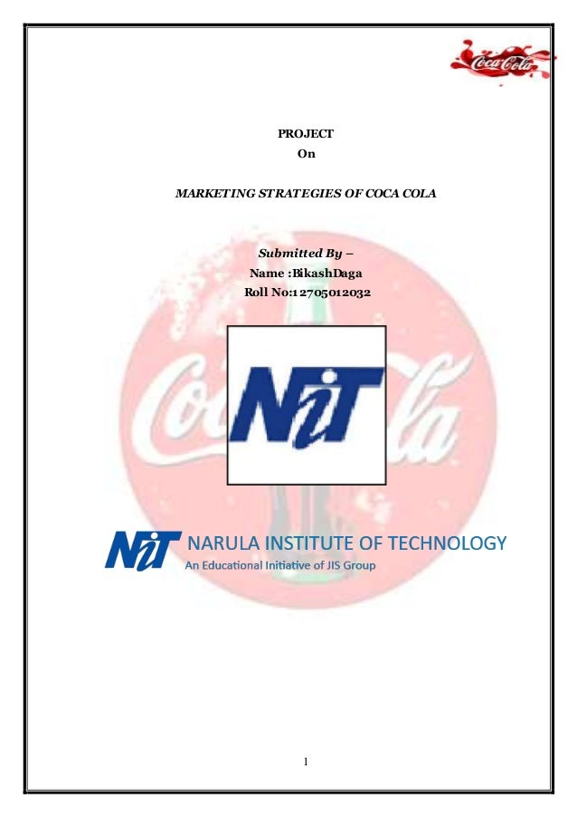 project on sales promotion strategies of coca cola Project report on marketing strategies of coca cola  to coca  cola has managed their company's marketing and sales.