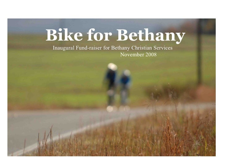 Inaugural Fund-raiser for Bethany Christian Services  November 2008