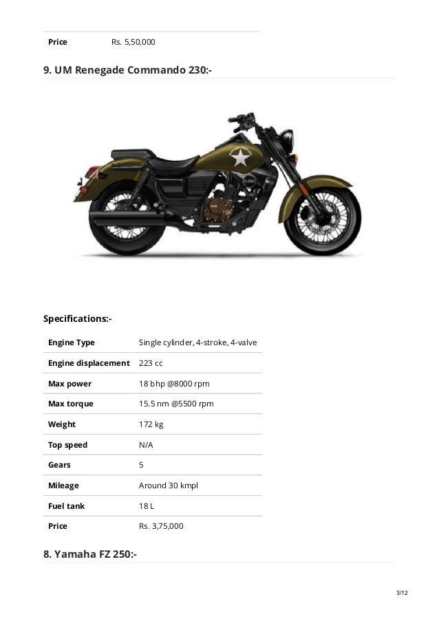 Top 10 250cc bikes in Nepal