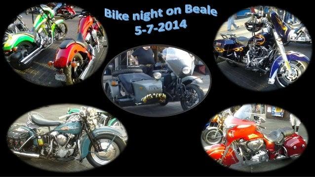 Bike night on Beale Street 5-7-14