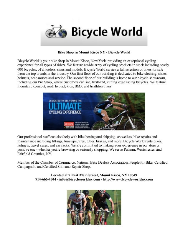 Bike Shop In Mount Kisco Ny Bicycle World