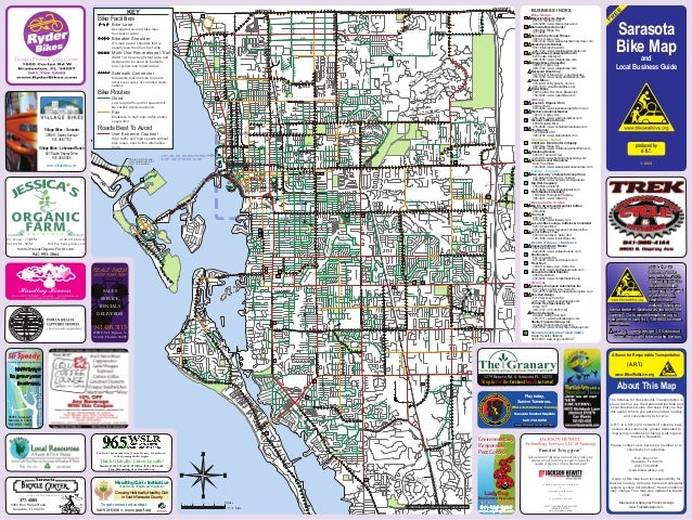 Map Of Florida Sarasota.Sarasota Bike Map