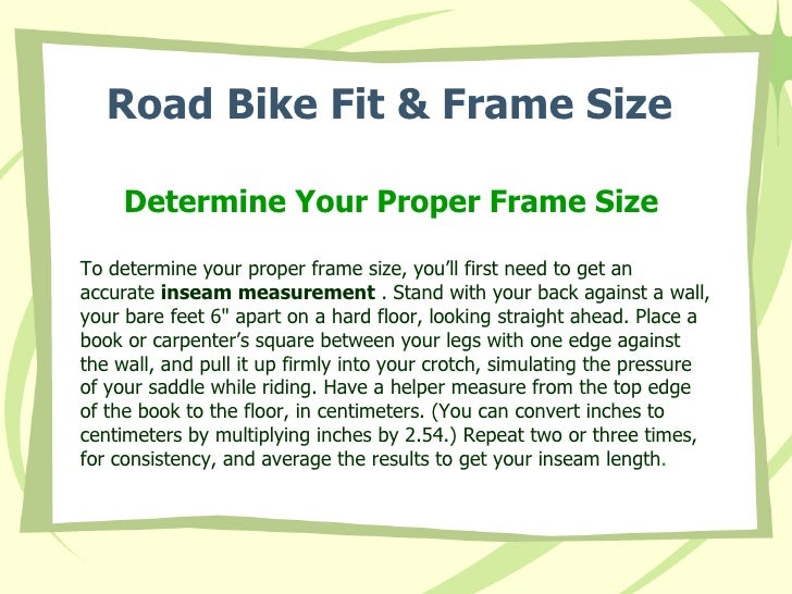 Bike Fit Tips