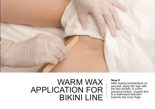 How to wax a bikini line