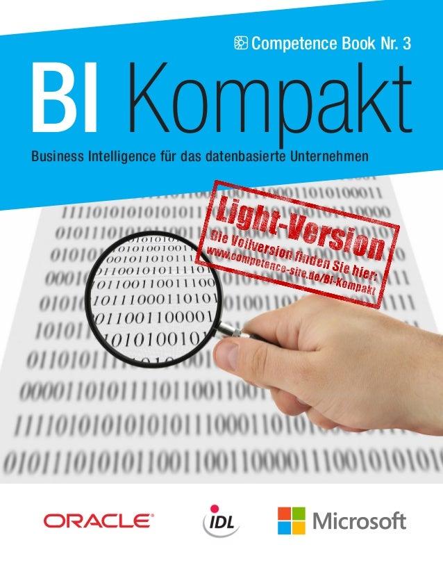 Competence Book Nr. 3  BI Kompakt  Business Intelligence für das datenbasierte Unternehmen