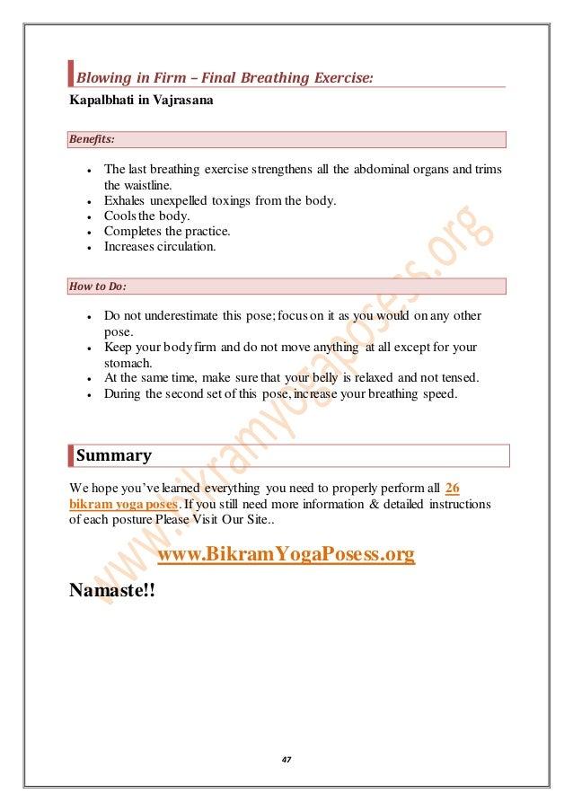 graphic relating to Bikram Yoga Poses Chart Printable identified as Obtain Thorough Marketing consultant of 26 Bikram yoga Poses Added benefits