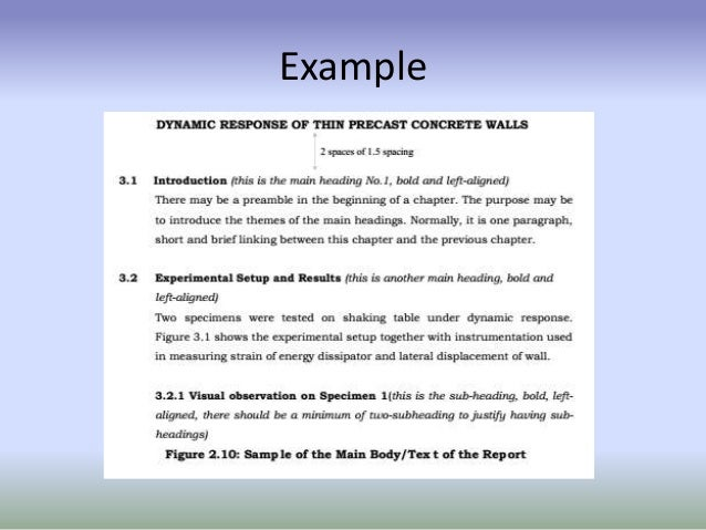 Technical Report Writing (Format Of Final Year Project'S Thesis)