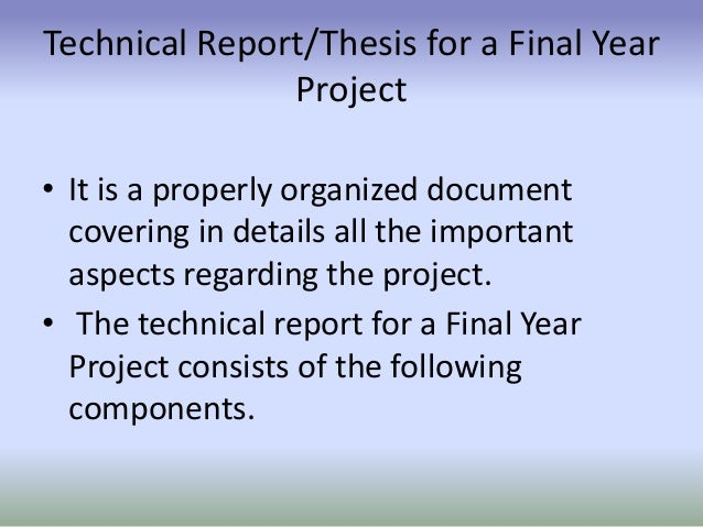 technical thesis report