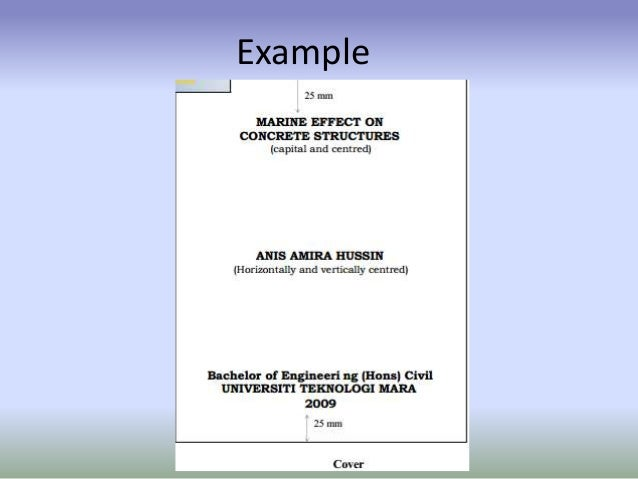 simple technical report example