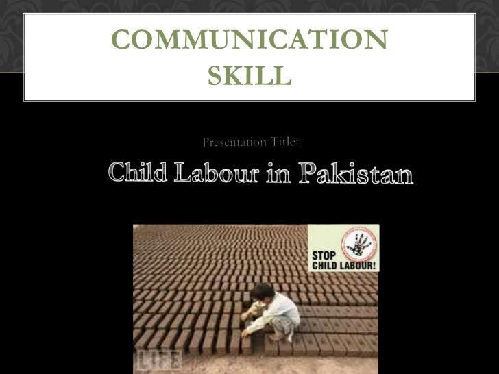 presentation on child labour Slide 3