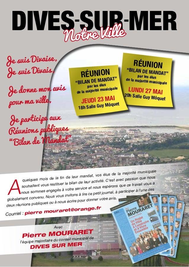 """DIVES SUR MER otre Ville N  Je suis Divaise, Je suis Divais, Je donne mon avis pour ma ville,  Réunion  ANDAT"""" """"bilan desM..."""