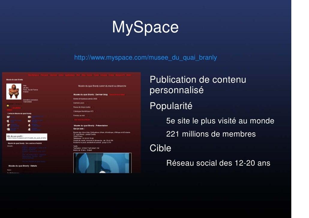 MySpace http://www.myspace.com/musee_du_quai_branly                         Publication de contenu                       p...